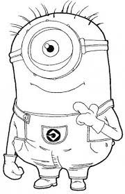 One Eye Minion Despicable Me Coloring Pages ミニオン こども手帳