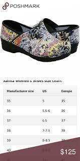 Sanita Shoe Size Chart Pin On My Posh Picks