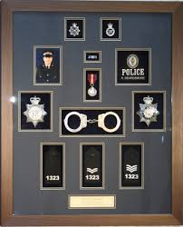 a police retirement frame