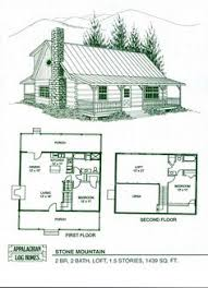 Cabin Home Plans With Loft | Log Home Floor Plans   Log Cabin Kits    Appalachian Log Homes I LOVE THIS LAY OUT: