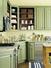 Green Color Kitchen Cabinets Repainting Cabnit Colors Ideas You Like Green Color And Need An