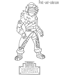 Fortnite Battle Royale Coloring Page Zenith Skin Places To Visit