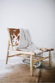 cowhide leather chair  collection  french connection