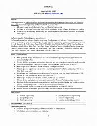 Resume Format For 1 Year Experienced Software Developer Lovely