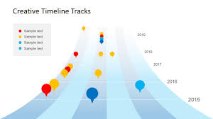 Creative Timelines For Projects Creative Timeline Tracks Powerpoint Template Slidemodel