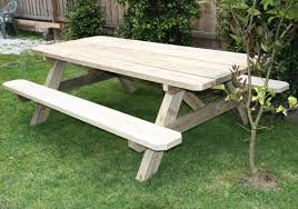 outdoor wooden tables. Interesting Outdoor Large Solid Treated Pine Outdoor Wooden Table To Outdoor Wooden Tables