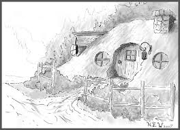 Hobbit Hole Coloring Pages Coloring Pages