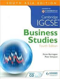 Cambridge Igcse Business Studies 4 E Sae Karen