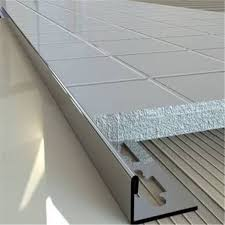 stainless steel metal floor strip trim edges brushed finish