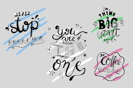 Download them for free and start now your diy projects with these free vectors. Hand Lettering Quotes Graphic By Wanida Toffy Creative Fabrica En 2020 Letras A Mano Cartas Apuntes