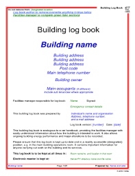 log book template fillable online city ac building log book template city ac fax