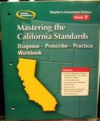 Teacher Pay In California Chart Mastering The California Standards Grade 7 Teachers