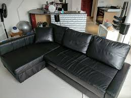 corner sofa bed with storage ikea friheten bomstad black
