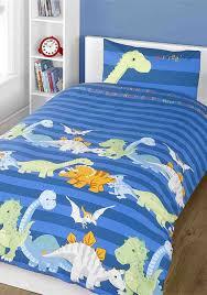 rapport home kids dinosaur single duvet cover set blue