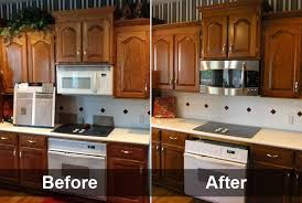 painting kitchen cabinets before and afterOak Painted Kitchen Cabinets Before And After Photos  DESJAR