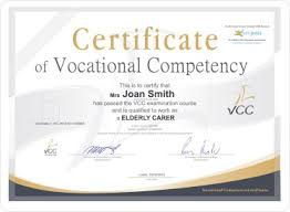 samples of certificates sample certificates vcc