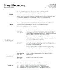 Basic Resume Template Word Free Word Resume Templates Office For ...