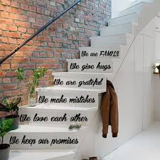 stair wall art stickers