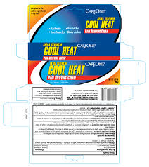Heat Cool Care One Cool Heat Pain Relieving Cream American Sales Company