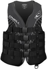 Details About Oneill Mens Superlite Uscg Life Vest Black Black Smoke White Medium