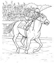 Race Horses Color Pictures Print Coloring Pages 4
