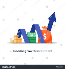 Stock Chart Services Income Growth Chart Banking Services Financial Report