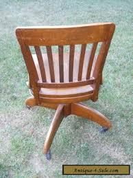 antique oak swivel bankers chair barrel office desk chair gunlocke for sale antique oak office chair