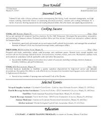 Cook Resume Templates Cook Resume Template Free Line Cook Resume