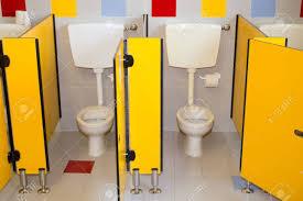 Preschool bathroom Door Small Bathroom Of Preschool For Children With Water Closet Stock Photo 35104672 123rfcom Small Bathroom Of Preschool For Children With Water Closet Stock