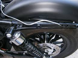 how to install side mount license plate on a harley davidson