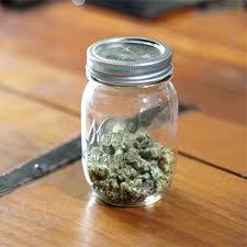 photo of weed in mason jar