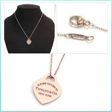 tiffany necklace rubedo return to tiffany rubbed heart pendant small 16 in rose gold 30978773