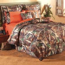 F Outdoor Themed Bedroom With 1 Pieces Oak Camo Neckroll And Bedding  Set Light Orange Bed Sheets 2 Accent Pillow