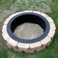 outdoor fire pit metal ring luxury beautiful 36 inch fire pit ring round metal steel fire