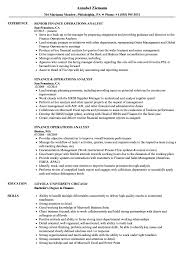 Finance Operations Analyst Resume Samples Velvet Jobs