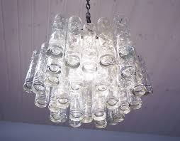 murano tubular glass pendant by doria 1960s