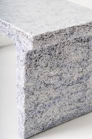 recycled paper furniture. materials furniture made of shredded magazines and documents mixed with clear resin by jens praet recycled paper