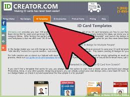 Make An Id Card How To Make Id Cards Online 12 Steps With Pictures Wikihow