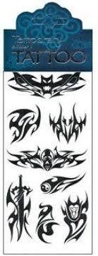 Tetovací Obtisky černé 75 X 15 Cm Ornamenty 2