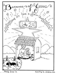 These nativity coloring pages will keep your preschoolers entertained this holiday season. Nativity Scene Coloring Pages Jesus Is Here Ministry To Children