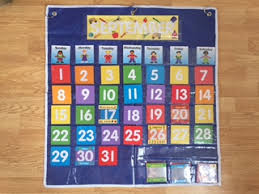 Date Chart For Classroom Classroom Calendar Pocket Chart