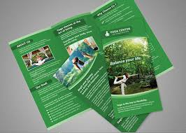 make tri fold brochure tri fold brochure for yoga classes or yoga center is the good way to