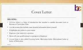 Cover Letter Definition Define Cover Letter Endspiel Free