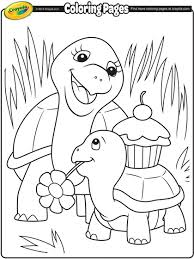 Turtle Mommy Coloring Page Crayolacom