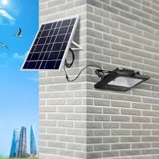Garage Outdoor Wall Lights Us 58 5 30 Off Remote Control Solar Led Flood Light Wall Lamp Garage Courtyard Garden Led Spotlight Waterproof 10w Outdoor Wall Solar Light In