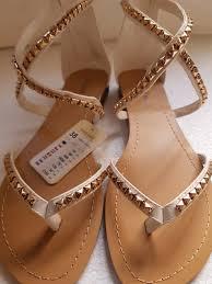 úplně Nové Bílé Kotníčkové Sandály Vzadu Na Zip Jenny Fairy Vel38