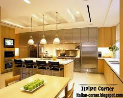 kitchens designs 2013. Modern Italian Kitchen Design With Unique Pop Ceiling Gypsum Kitchens Designs 2013