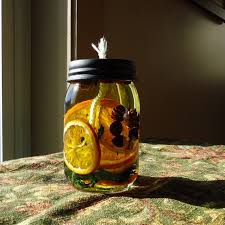 Decorative Oil Jars Make your own scented mason jar candles Craft projects for every 35