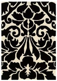 black and white area rugs brown