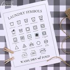 Laundry Symbols Printable Understanding Those Confusing